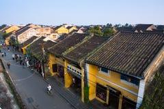Αρχαία πόλη Hoian από την υψηλή άποψη στο Βιετνάμ Στοκ Εικόνα
