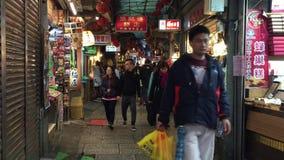Αρχαία πόλη Jiufen στη Ταϊπέι, Ταϊβάν απόθεμα βίντεο