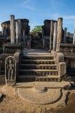 Αρχαία πόλη Polonnaruwa, φωτογραφία του Vatadage & x28 Κυκλικό λείψανο House& x29  σε Polonnaruwa Στοκ εικόνα με δικαίωμα ελεύθερης χρήσης
