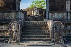 Αρχαία πόλη Polonnaruwa, φωτογραφία του Vatadage & x28 Κυκλικό λείψανο House& x29  σε Polonnaruwa Στοκ Φωτογραφίες
