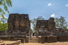 Αρχαία πόλη Royal Palace Σρι Λάνκα Polonnaruwa στοκ εικόνες