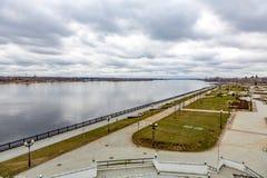 Αρχαία πόλη Yaroslavl στον ποταμό του Βόλγα, Ρωσία στοκ φωτογραφία με δικαίωμα ελεύθερης χρήσης