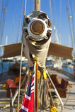 Αρχαία πλέοντας βάρκα κατά τη διάρκεια ενός regatta στο Panerai κλασικό Yac Στοκ Εικόνες