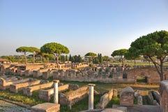 Αρχαία ρουμανική πόλη - Ostia Antica Στοκ φωτογραφία με δικαίωμα ελεύθερης χρήσης