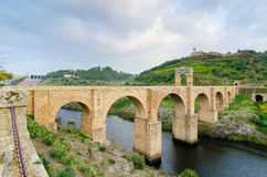 Αρχαία ρωμαϊκή γέφυρα Alcantara Ισπανία Στοκ φωτογραφία με δικαίωμα ελεύθερης χρήσης