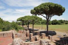 Αρχαία ρωμαϊκή πόλη Antica Ostia Στοκ φωτογραφίες με δικαίωμα ελεύθερης χρήσης