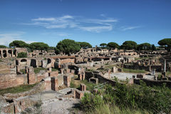 Αρχαία ρωμαϊκή πόλη Antica Ostia Στοκ φωτογραφία με δικαίωμα ελεύθερης χρήσης