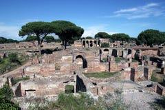 Αρχαία ρωμαϊκή πόλη Antica Ostia Στοκ Φωτογραφίες