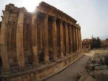 Αρχαία ρωμαϊκή πόλη Baalbek στο Λίβανο - ναός Δία Στοκ φωτογραφία με δικαίωμα ελεύθερης χρήσης