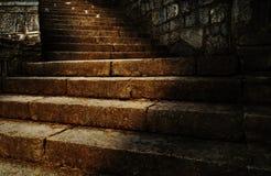 Αρχαία σκαλοπάτια Στοκ φωτογραφίες με δικαίωμα ελεύθερης χρήσης