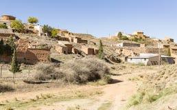 Αρχαία σπίτια και κελάρια κρασιού Ariza στην πόλη, Σαραγόσα, Ισπανία Στοκ φωτογραφίες με δικαίωμα ελεύθερης χρήσης