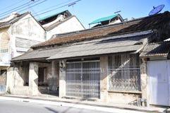 Αρχαία σπίτια, παλαιά χαρακτηριστικά σπίτια στοκ φωτογραφία