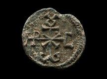Αρχαία στρογγυλή μετα σφραγίδα φιαγμένη από μόλυβδο Στοκ εικόνα με δικαίωμα ελεύθερης χρήσης