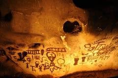 Αρχαία σχέδια στη σπηλιά Magura, Belogradchik, Βουλγαρία Στοκ εικόνες με δικαίωμα ελεύθερης χρήσης