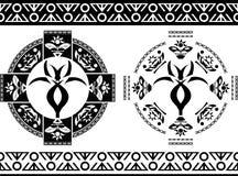 Αρχαία σύμβολα και σύνορα Στοκ φωτογραφίες με δικαίωμα ελεύθερης χρήσης