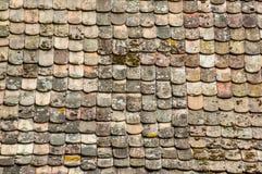 αρχαία σύσταση κεραμιδιών στεγών τερακότας Στοκ φωτογραφία με δικαίωμα ελεύθερης χρήσης