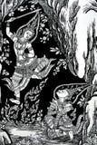 αρχαία τέχνη Ταϊλανδός Στοκ Φωτογραφία