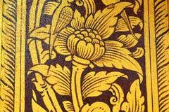 Αρχαία ταϊλανδική ζωγραφική στον τοίχο στο ναό του Βούδα Στοκ Εικόνες