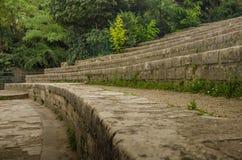 Αρχαία υπολείμματα Arenes de Lutece στο Παρίσι Στοκ φωτογραφία με δικαίωμα ελεύθερης χρήσης