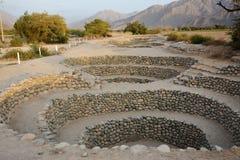 Αρχαία φρεάτια κοντά στην πόλη Nazca Περού στοκ φωτογραφίες με δικαίωμα ελεύθερης χρήσης