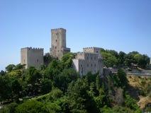 Αρχαία φρούρια της πόλης Erice, Σικελία, Ιταλία Στοκ Εικόνα