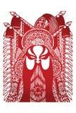 αρχαία όπερα Πεκίνο χαρακ&tau Στοκ Εικόνες