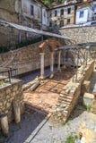 Αρχαία archeologic ρωμαϊκή περιοχή στη Οχρίδα Στοκ Φωτογραφία