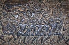 Αρχαία bas-ανακούφιση σε Angkor Wat, Καμπότζη Στοκ φωτογραφία με δικαίωμα ελεύθερης χρήσης