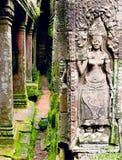 Αρχαία bas-ανακούφιση στην πρόσοψη Angkor Wat σε Angkor, Cambo Στοκ Εικόνες