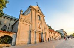 Αρχαία Capuchin εκκλησία του ST Peter και του ST Paul, Lublin, Πολωνία Στοκ εικόνα με δικαίωμα ελεύθερης χρήσης
