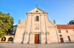 Αρχαία Capuchin εκκλησία του ST Peter και του ST Paul, Lublin, Πολωνία Στοκ φωτογραφίες με δικαίωμα ελεύθερης χρήσης