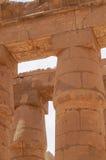 Αρχαία Hieroglyphs στήλη ναών Karnak Στοκ Φωτογραφία