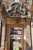 Αρχαία Khmer γλυπτική στον ινδό ναό Banteay Samre Στοκ εικόνες με δικαίωμα ελεύθερης χρήσης