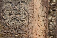 Αρχαία Khmer γλυπτική Krishna, Angkor στοκ εικόνα