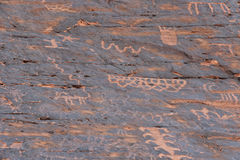 αρχαία petroglyphs Στοκ Εικόνα