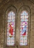 Αρχαία stained-glass παράθυρα στον καθεδρικό ναό στην πόλη Beziers στοκ φωτογραφία με δικαίωμα ελεύθερης χρήσης