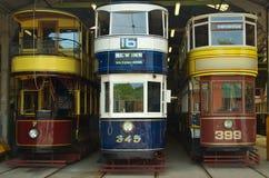 αρχαία tramcars Στοκ Φωτογραφίες
