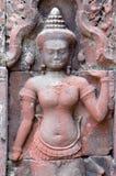 Αρχαίες ανακουφίσεις σε Angkor Thom, Καμπότζη Στοκ Φωτογραφίες