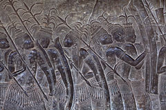 Αρχαίες ανακουφίσεις σε Angkor Wat, Καμπότζη Στοκ Εικόνα