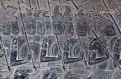 Αρχαίες ανακουφίσεις σε Angkor Wat, Καμπότζη Στοκ Εικόνες