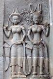 Αρχαίες ανακουφίσεις στο ναό Angkor Wat, Καμπότζη Στοκ φωτογραφία με δικαίωμα ελεύθερης χρήσης