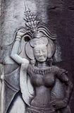 Αρχαίες ανακουφίσεις στο ναό Angkor Wat, Καμπότζη Στοκ Εικόνες