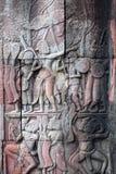Αρχαίες ανακουφίσεις στο ναό Angkor Wat, Καμπότζη Στοκ εικόνα με δικαίωμα ελεύθερης χρήσης