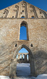 Αρχαίες γοτθικές καταστροφές του μοναστηριού Pirita Στοκ εικόνα με δικαίωμα ελεύθερης χρήσης
