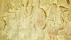 Αρχαίες γλυπτικές στους τοίχους Angkor Wat Καμπότζη, 12ος αιώνας απόθεμα βίντεο