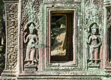 Αρχαίες διακοσμήσεις Angkor Wat στην Καμπότζη Στοκ φωτογραφία με δικαίωμα ελεύθερης χρήσης