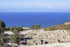 Αρχαίες καταστροφές και ακτή Στοκ εικόνες με δικαίωμα ελεύθερης χρήσης