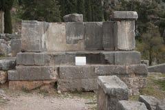 αρχαίες καταστροφές μουσείων των Δελφών Ελλάδα Ελλάδα Στοκ Εικόνες