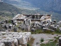 αρχαίες καταστροφές μουσείων των Δελφών Ελλάδα Ελλάδα Στοκ Φωτογραφίες