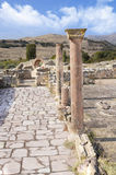 Αρχαίες καταστροφές πόλεων, μαρμάρινη θέση, Μακεδονία Στοκ Εικόνα